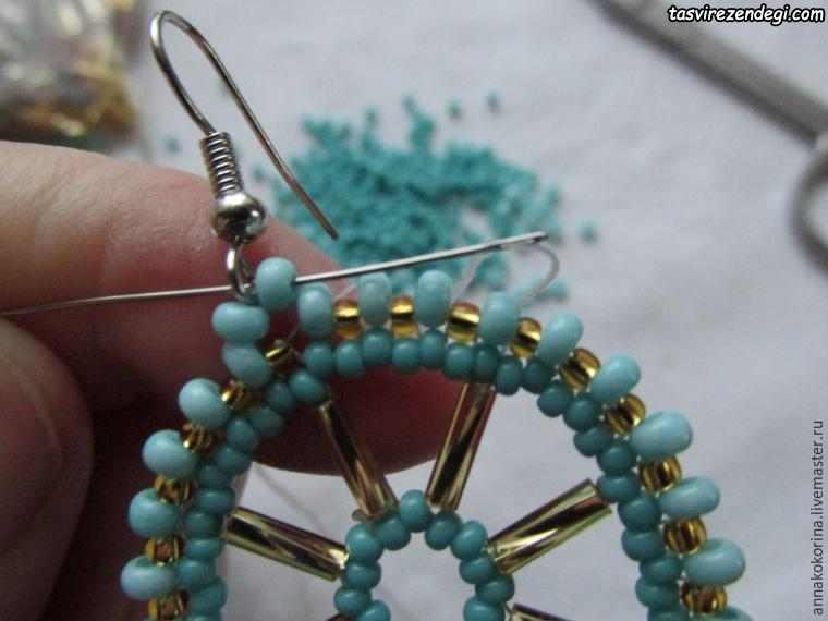 آموزش ساخت زیورآلات , درست کردن گوشواره منجوقی