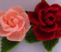 آموزش قلاب بافی , آموزش بافت گل رز