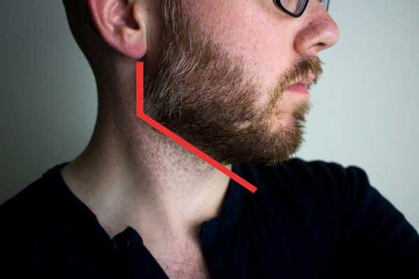 محل خط ریش بالای گلو