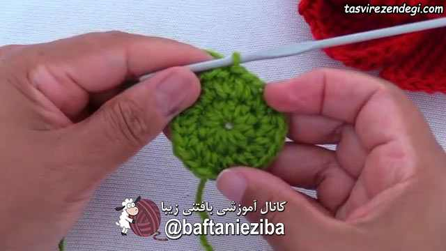 آموزش بافت گل سینه رز سه بعدی