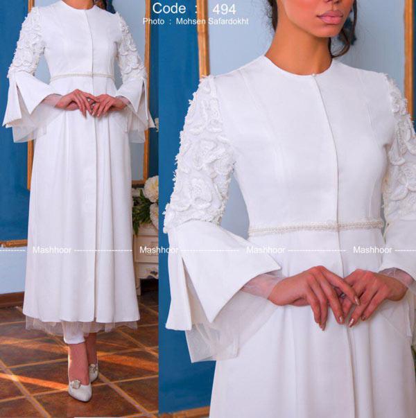مانتو عروس سفید