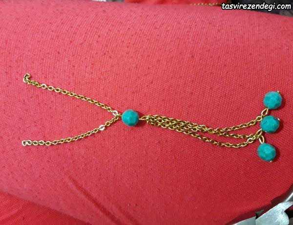 ساخت گردنبند رومانتویی با زنجیره و مهره