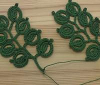آموزش بافت شاخه برگ , قلاب بافی ایرلندی