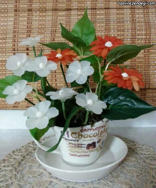 مدل گل آرایی گلدان گل کریستالی