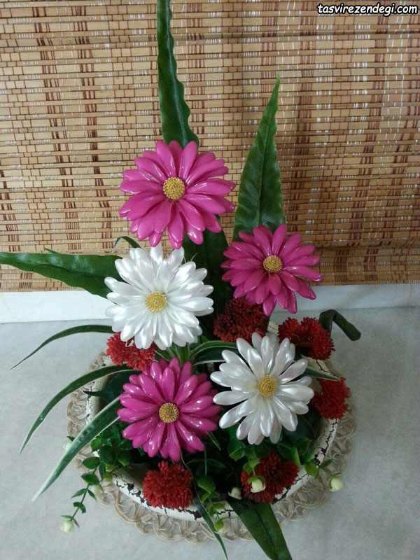 گلدان گل کریستالی کادویی