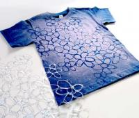 طراحی روی تیشرت ساده با چسب حرارتی