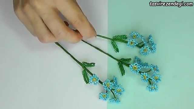 تزیین شانه سر با گل منجوقی