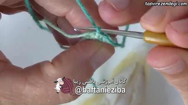 آموزش عروسک بافی , بافت لاک پشت کوچک