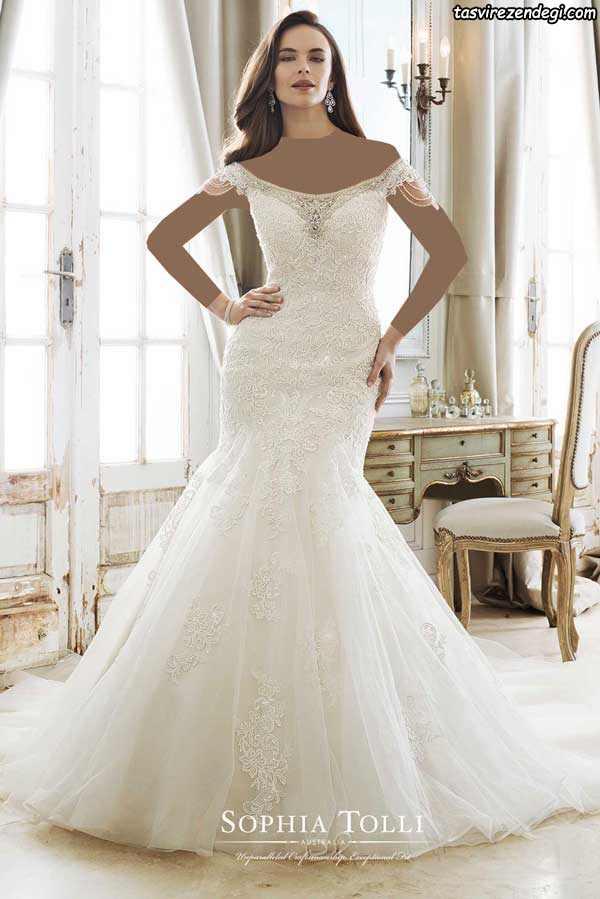 لباس عروس پری دریایی دنباله دار