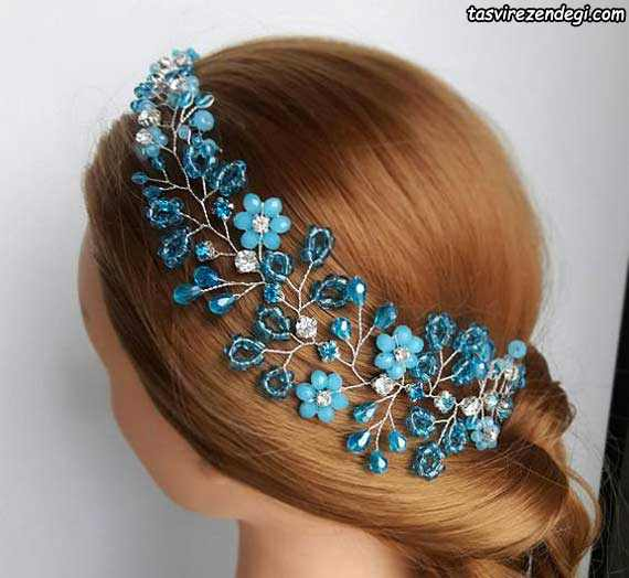 تزیین موی عروس با ریسه