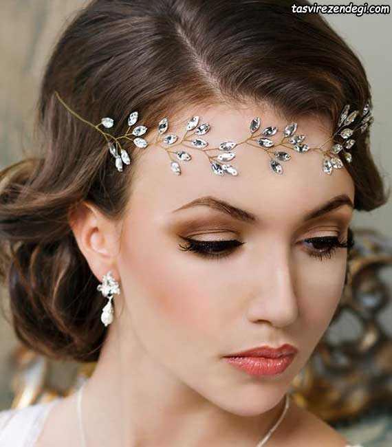 تزیین موی عروس با ریسه پیشانی