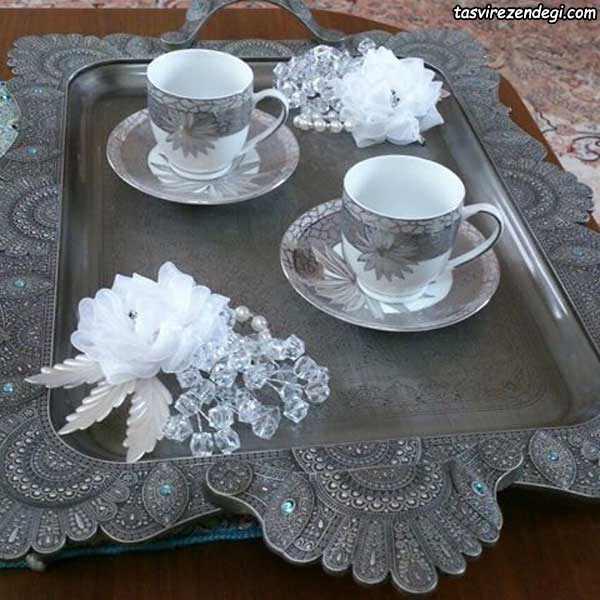 مدل تزیین سینی چای