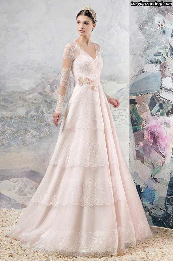 لباس عروس صورتی روشن