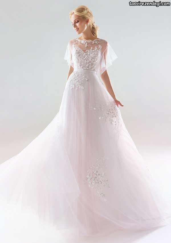 مدل لباس عروس رنگی حریر