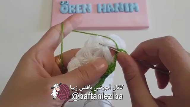 آموزش بافت پتو گل برجسته با قلاب