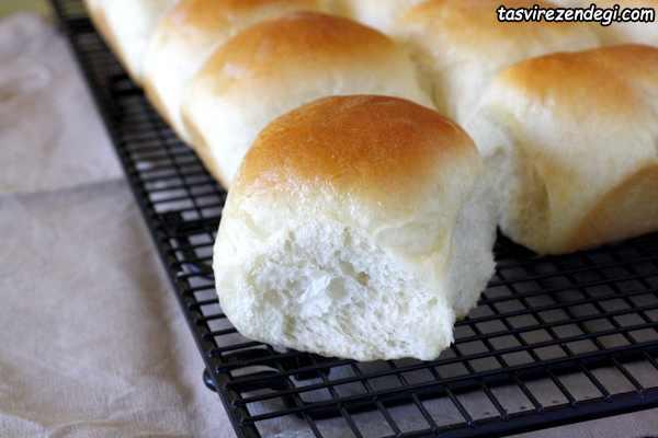 طرز تهیه نان رول شیری