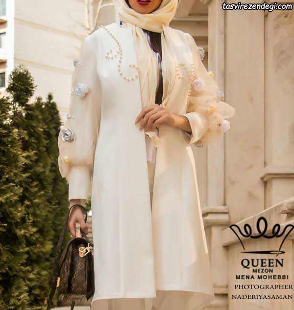 مدل مانتو مجلسی عروس گل برجسته