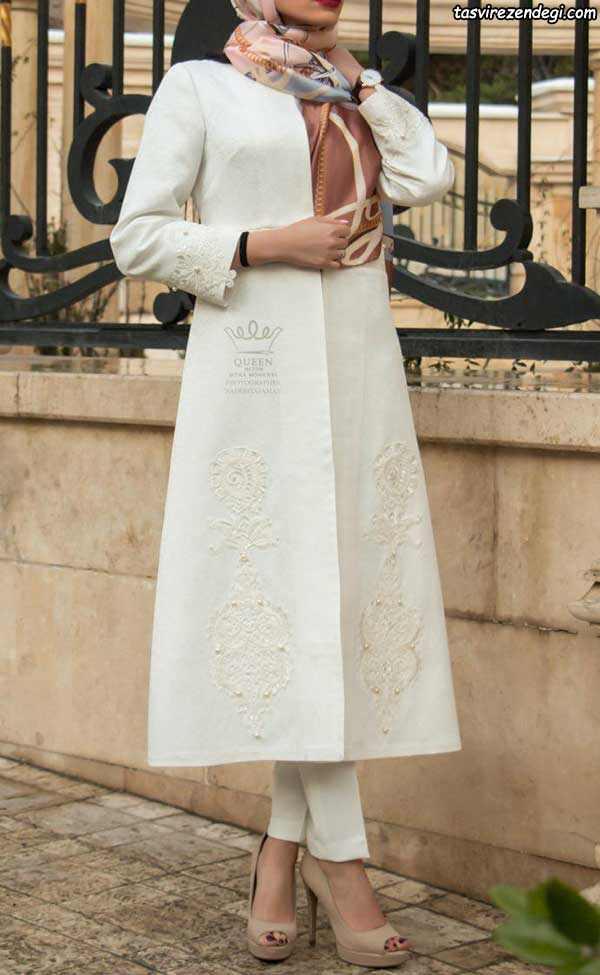 مدل مانتو مجلسی عروس بلند
