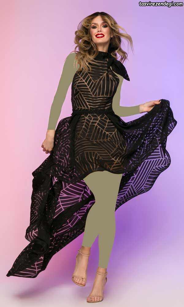 مدل لباس مجلسی مشکی تور