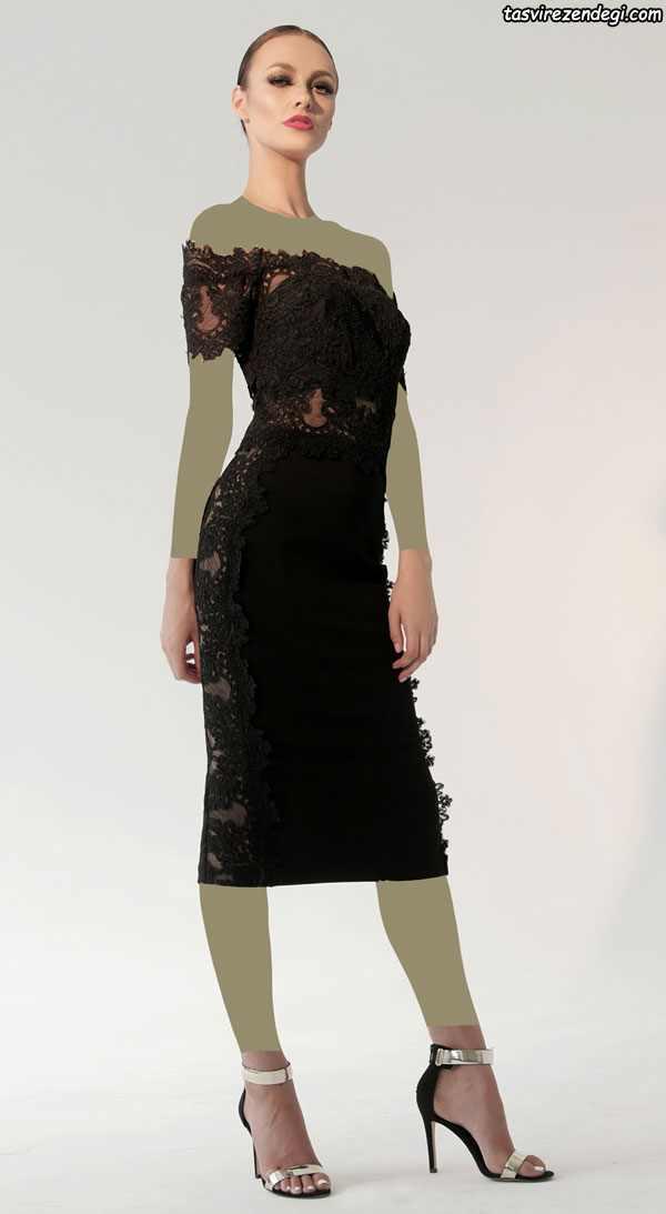 مدل لباس مجلسی مشکی 2018