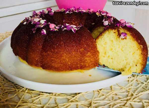 کیک خیس کاراملی