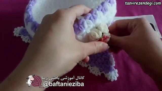 آموزش بافت کاسه قدح قلاب بافی