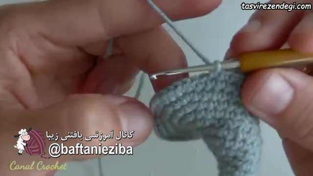 آموزش بافت عروسک فیل