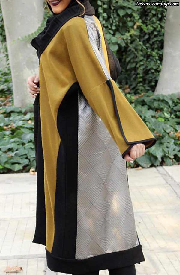 مانتو کیمونو سه رنگ بلند و خنک