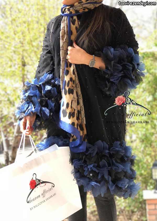 مدل مانتو مجلسی تابستانی گل برجسته