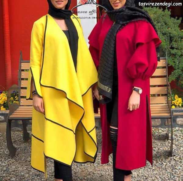 مدل مانتو مجلسی تابستانی جدید رنگی