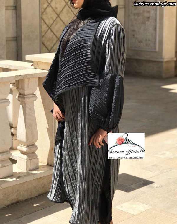 مدل مانتو مجلسی تابستانی مشکی