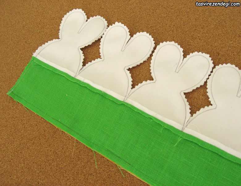 آموزش دوخت سبد نان پارچه ای