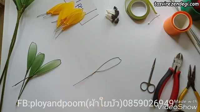 آموزش ساخت گل آفتابگردان جورابی