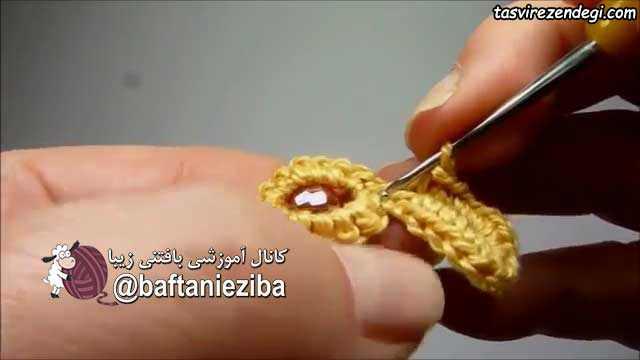 آموزش بافت دستبند با قلاب