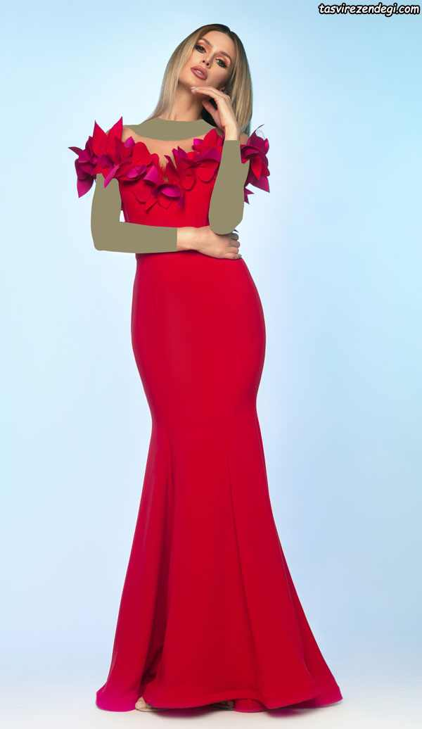 لباس مجلسی دامن ماهی قرمز