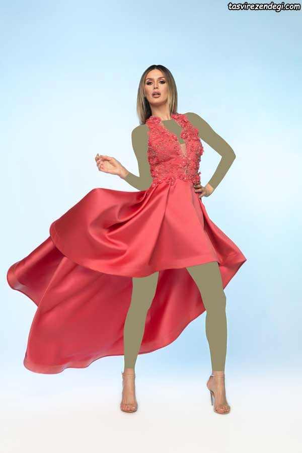 مدل لباس مجلسی جدید 2019 قرمز