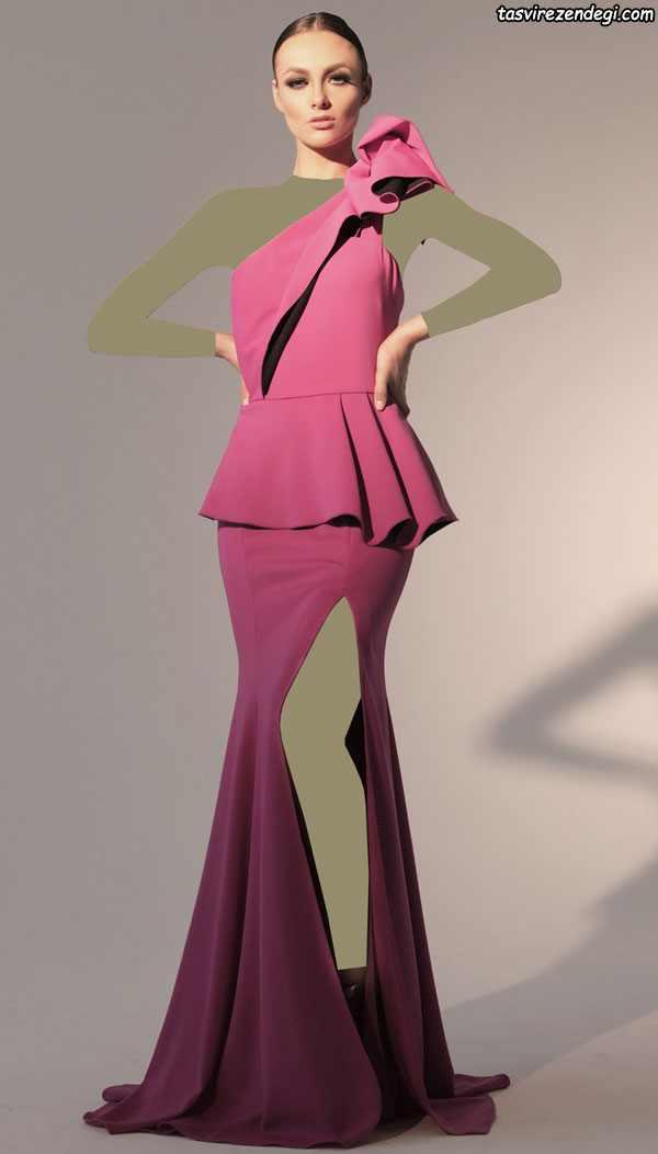 لباس مجلسی دامن بلند چاک دار