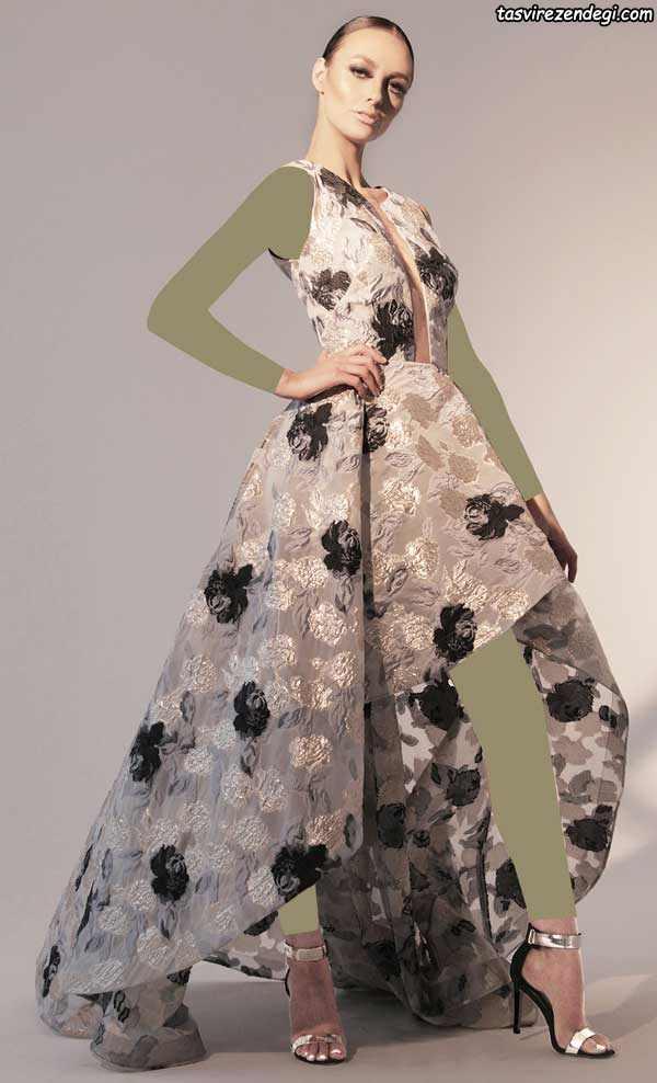 لباس مجلسی شیک گلدار