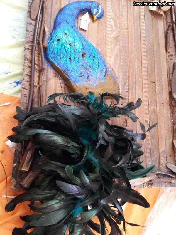 تزیین حنا به شکل طاووس
