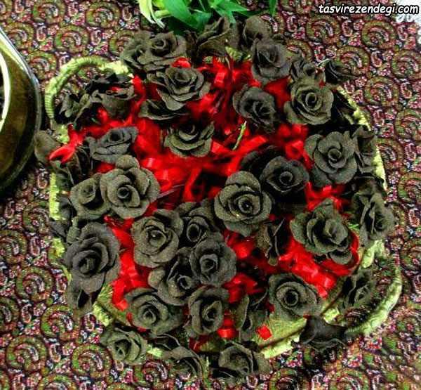 گیفت حنا به شکل گل رز
