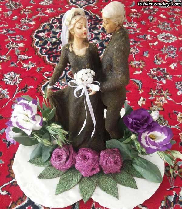 تزیین حنا به شکل عروس داماد