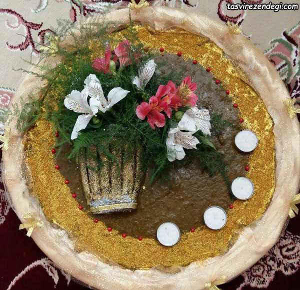 تزیین حنا به شکل گلدان گل