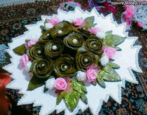 تزیین حنا به شکل گل