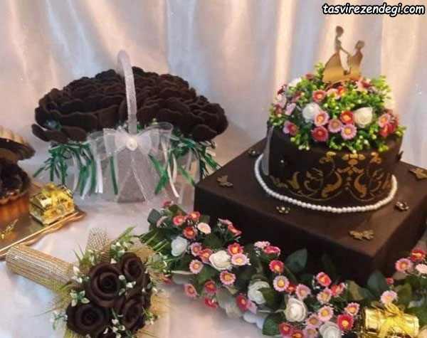 تزیین حنا به شکل کیک