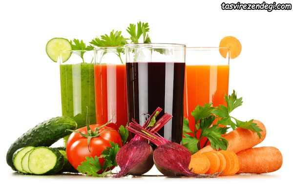 نوشیدنی های خنک تابستانی , آب سبزیجات