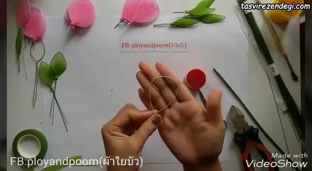 آموزش درست کردن گل رز با جوراب