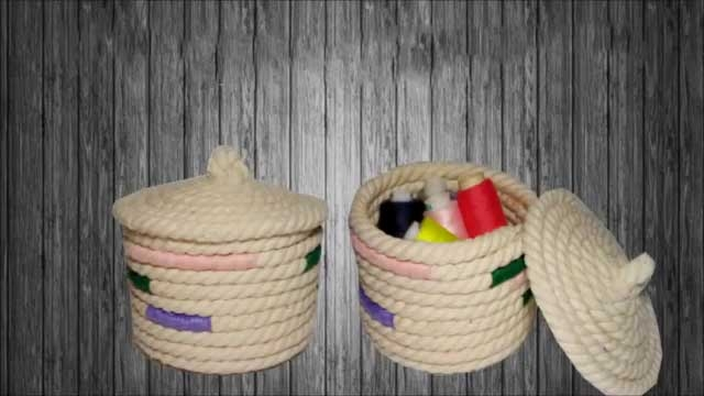 ساخت ظرف با طناب