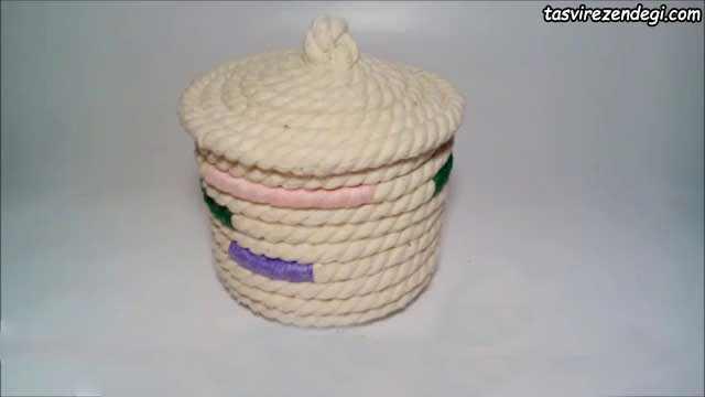 ساخت جعبه لوازم با طناب