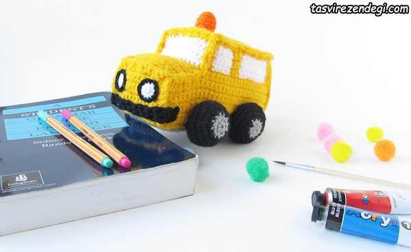 آموزش بافت اتوبوس مدرسه
