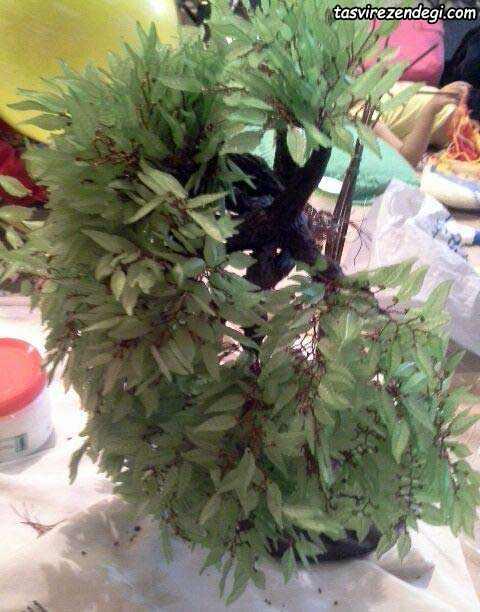 آموزش ساخت درختچه بید کریستالی